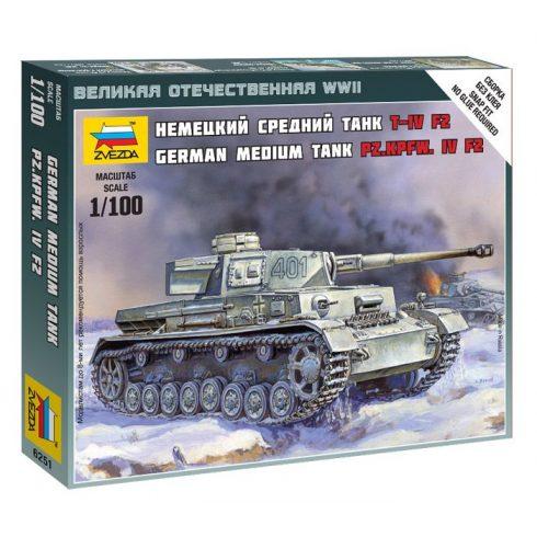 Zvezda Pz.Kpfw. IV Ausf.F2 tank makett 6251