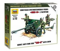 Zis-3 Soviet Gun Military small set löveg makett Zvezda 6253