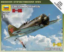 I-16 Soviet Fighter katonai repülőgép makett Zvezda 6254