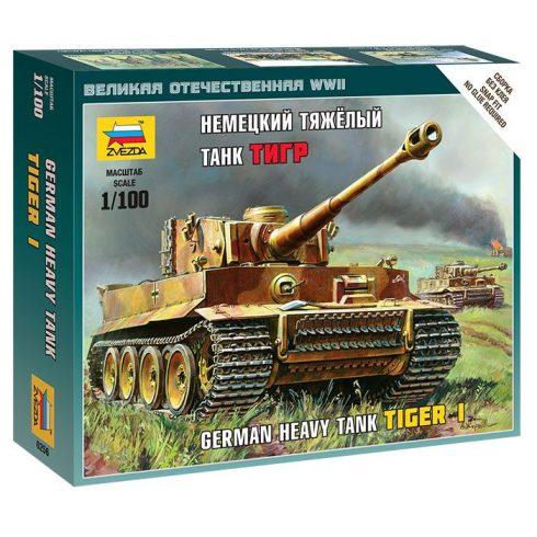 Zvezda German Heavy Tank Tiger I tank makett 6256