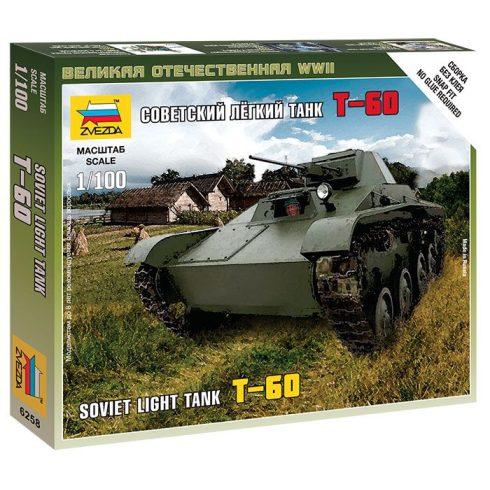 Zvezda Soviet Light Tant T-60 tank makett 6258