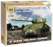 "US Medium Tank M4A2 ""Sherman"" tank makett Zvezda 6263"