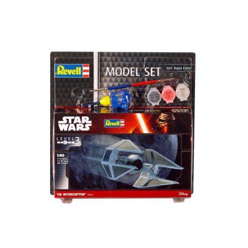 Revell Star Wars szett TIE Interceptor makett 63603
