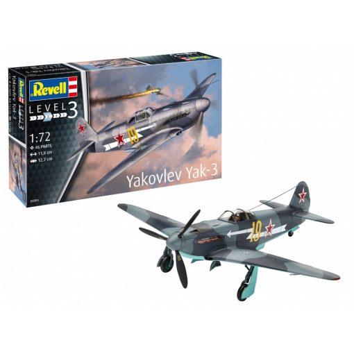 Revell modell szett Yakovlev Yak-3 repülőgép makett 1:72 (63894)
