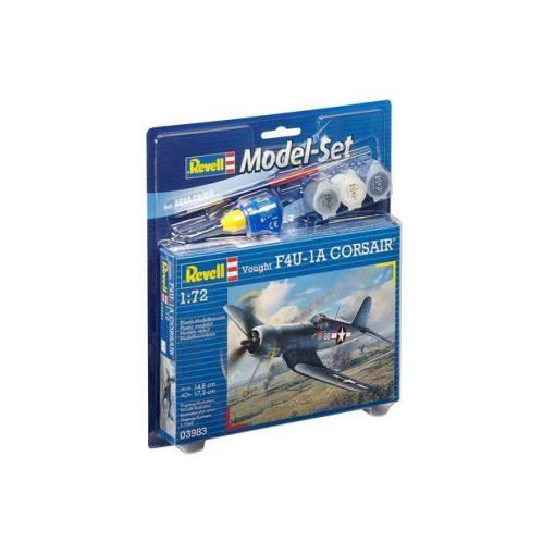 Revell Model Set Vought F4U-1D Corsair katonai repülő makett 63983