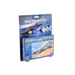 Revell Model Set - Boeing 747-200 polgári repülőgép makett