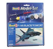 Revell Model Set F-14A Black Tomcat katonai repülő makett revell 64029
