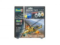Revell Model Set Model Set Mil Mi-24D Hind 1:100 helikopter makett 64951