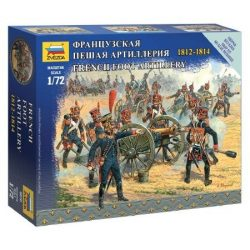 Zvezda French foot artillery 1:72 (6810) figura makett