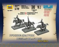 Zvezda Russian Dragoons Historic Miniatures 1:72 figura makett 6811