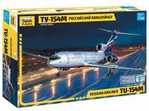 TUPOLEV TU-154М AIRLINER polgári repülő makett Zvezda 7004