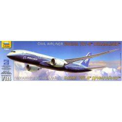 Boeing 787-8 polgári repülő makett Zvezda 7008