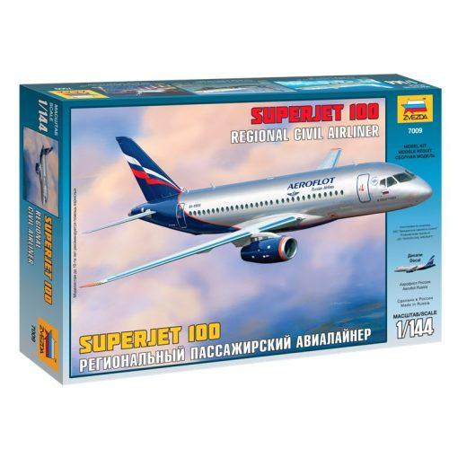 Zvezda Superjet 100 polgári repülő makett 7009