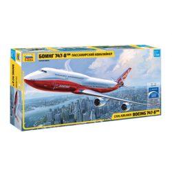 Zvezda BOEING 747-8 polgári repülőgép makett 7010