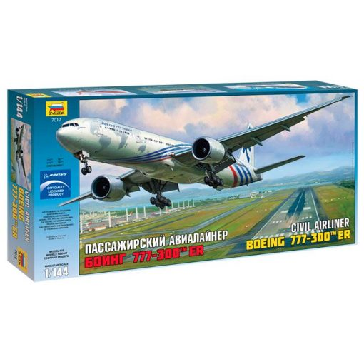 Boeing 777-300 ER polgári repülő makett Zvezda 7012