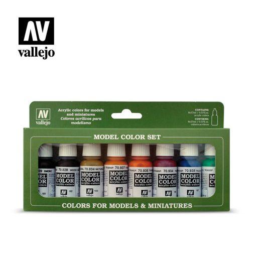 Vallejo Transparent Colors festék szett 70136