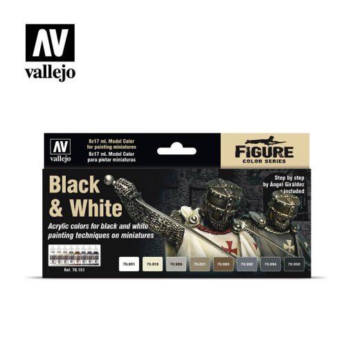 Vallejo Black & White festék szett 70151