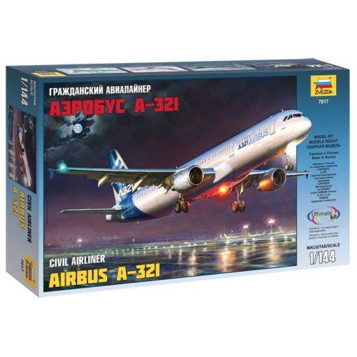 AIRBUS А-321 polgári repülő makett Zvezda 7017