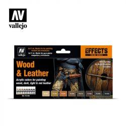 Wood & Leather festék szett Vallejo 70182