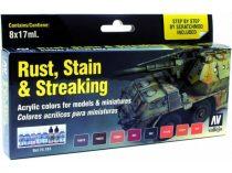 Rust, Stain & Streaking festék szett Vallejo 70183