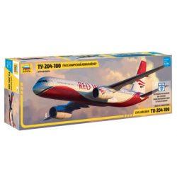 Zvezda Tupoljev TU-204-100 repülőgép makett 7023