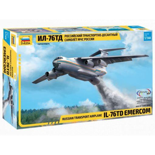 ZVEZDA IL-76 TD EMERCOM repülőgép makett 7029