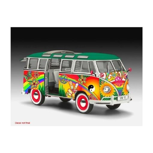 Revell VW T1 Samba Bus Flower Power 1:24 autó makett 7050