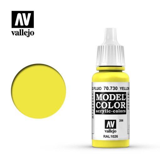 Vallejo Model Color 206 Yello Fluorescent akril festék  70730