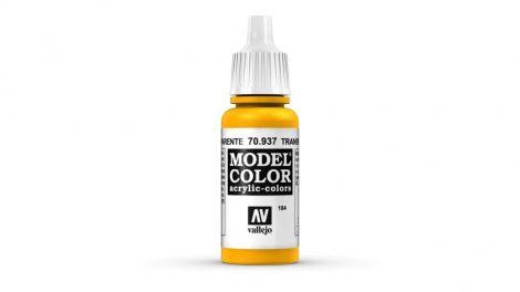 184 Yellow Transparent akrill festék Vallejo 70937