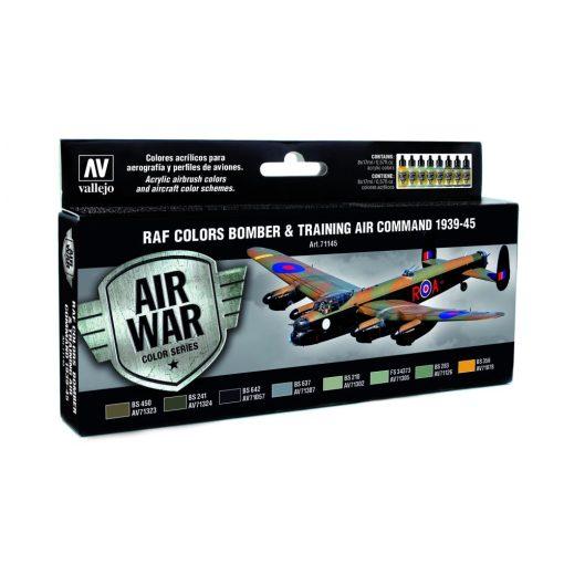 Vallejo RAF Colors Bomber & Training Air Command 1939-1945 festékesz szett 71145