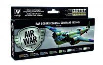 RAF Colors Coastal Command 1939-45 festék szett Vallejo 71148