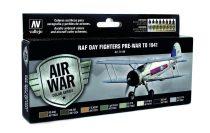 RAF Day Fighters Pre-War to 1941 festék szett Vallejo 71149