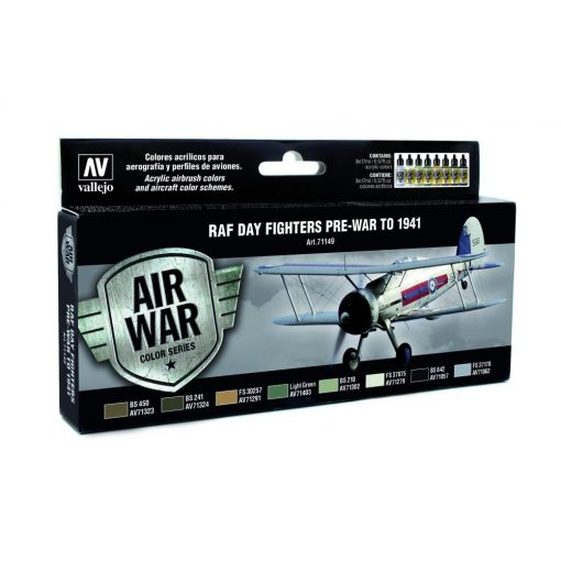 Vallejo RAF Day Fighters Pre-War to 1941 festék szett 71149