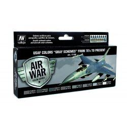 USAF Colors Gray Schemes from 70s to present festék szett Vallejo 71156