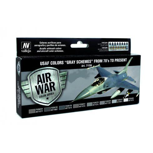Vallejo USAF Colors Gray Schemes from 70s to present festék szett 71156