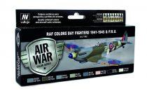 RAF Colors Dary Fighters 1941-1948 & PRU festék szett Vallejo 71162