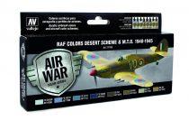 RAF Colors Desert Scheme & MTO 1940-1945 festék szett Vallejo 71163