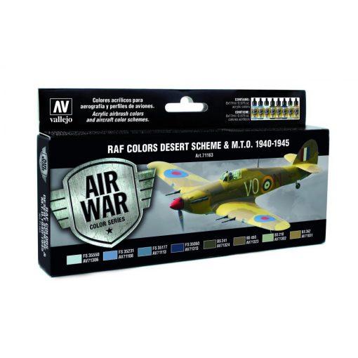 Vallejo RAF Colors Desert Scheme & MTO 1940-1945 festék szett 71163