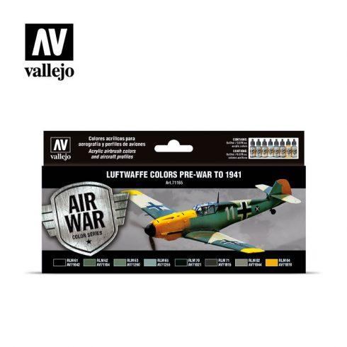 Vallejo Luftwaffe Pre War to 1941 festék szett 71165