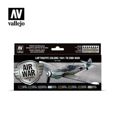 Vallejo Luftwaffe Colors 1941 to end-war festék szett 71166