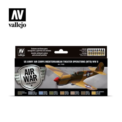 Vallejo US Army Air Corps Mediterranean Theater Op.festék szett 71183