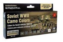 Soviet WWII Camo Colors festék szett Vallejo 71188