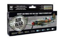Soviet Air Force VVS 1941-1943 festék szett Vallejo 71197