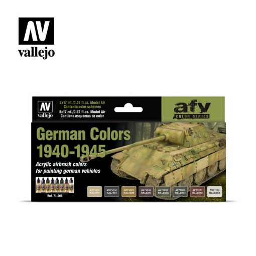 Vallejo German Colors 1940-1945 Air Color Set 71206