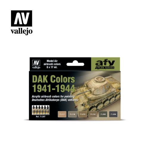Vallejo DAK colors 1941-44 airbrush festék szett 71207