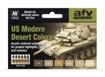 Vallejo US Modern Desert Colors festék szett 71209