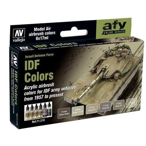 Vallejo IDF Colors airbrush feszék szett 71210