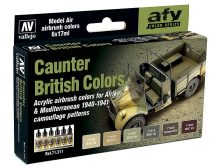 Vallejo Caunter British Colors airbrush festék szett 71211