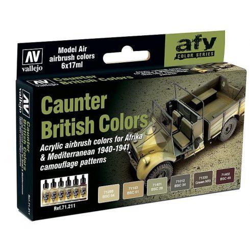 Vallejo Caunter British Colors airbrush festék szett 71211