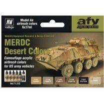 Vallejo MERDC Desert Colors airbrush festék szett 71212